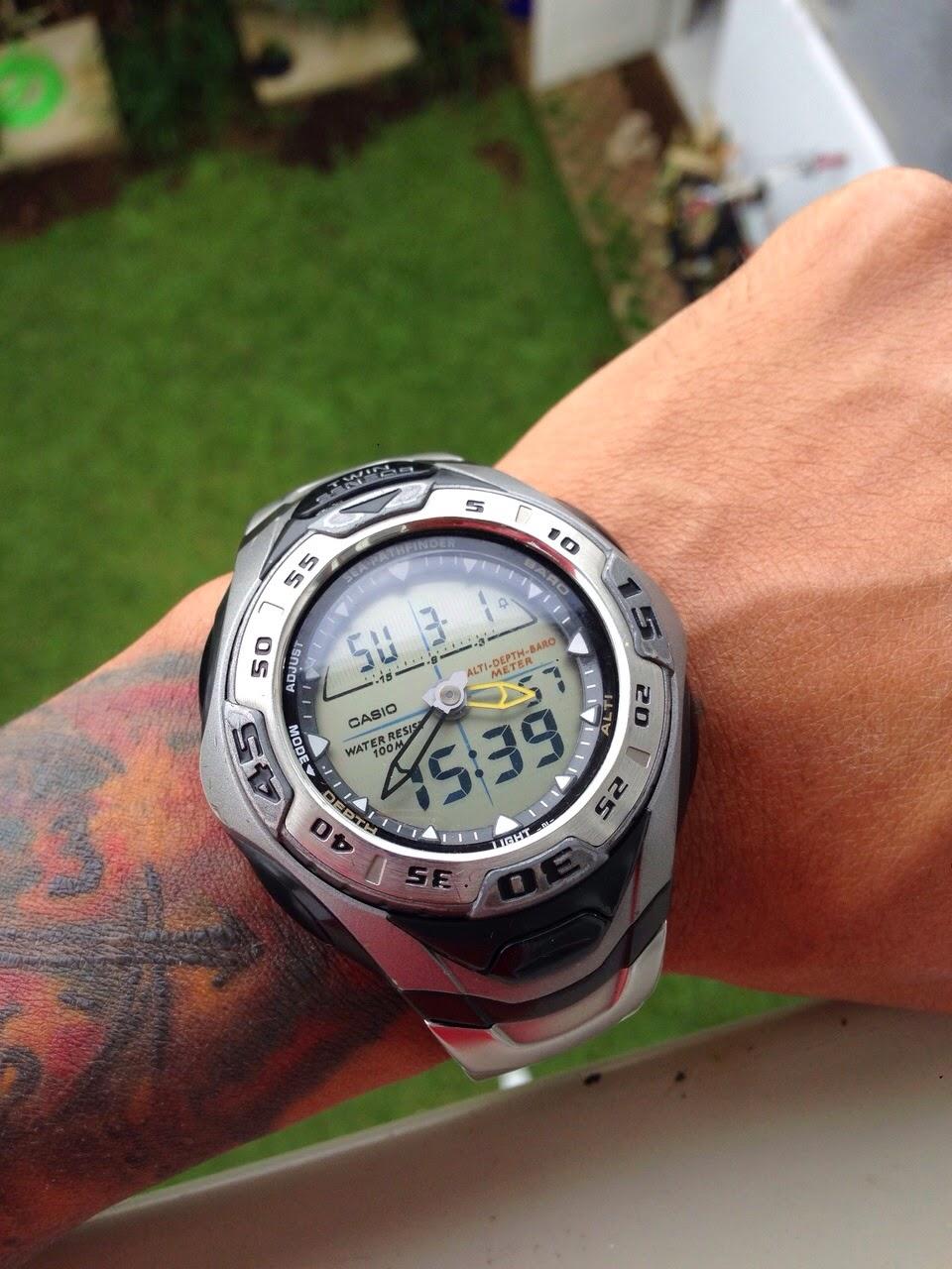 Jam Dan Waktu Casio Seapathfinder Spf60 D Triple Sensor