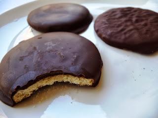 Galletas Lapataia bañadas en chocolate