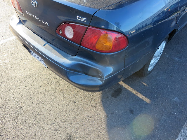 Damaged bumper before repairs at Almost Everything Auto Body