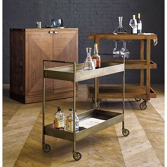 Bar cart crate