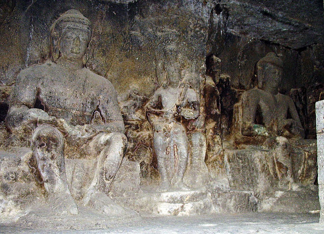Buddha fresco at Ellora