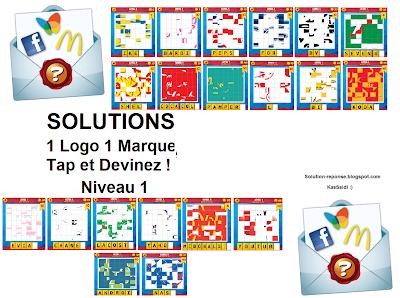 Solution 1 logo 1 marque quiz niveau 1