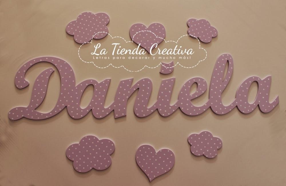 La tienda creativa letras para decorar y mucho m s - Letras de nombres para decorar ...