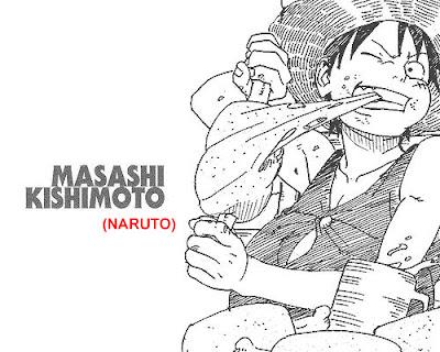 Gambar Luffy yang digambar oleh masashi kishimoto