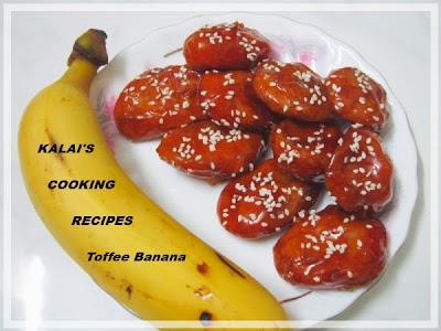 Toffee Banana | Caramel Banana Fritters | Morris Banana Fry | பொரித்த வாழைப்பழம் இனிப்பு