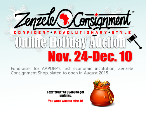 Support Zenzele Online Auction