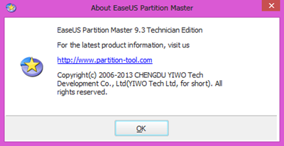 EASEUS Partition Master 9.3 Technican Edition