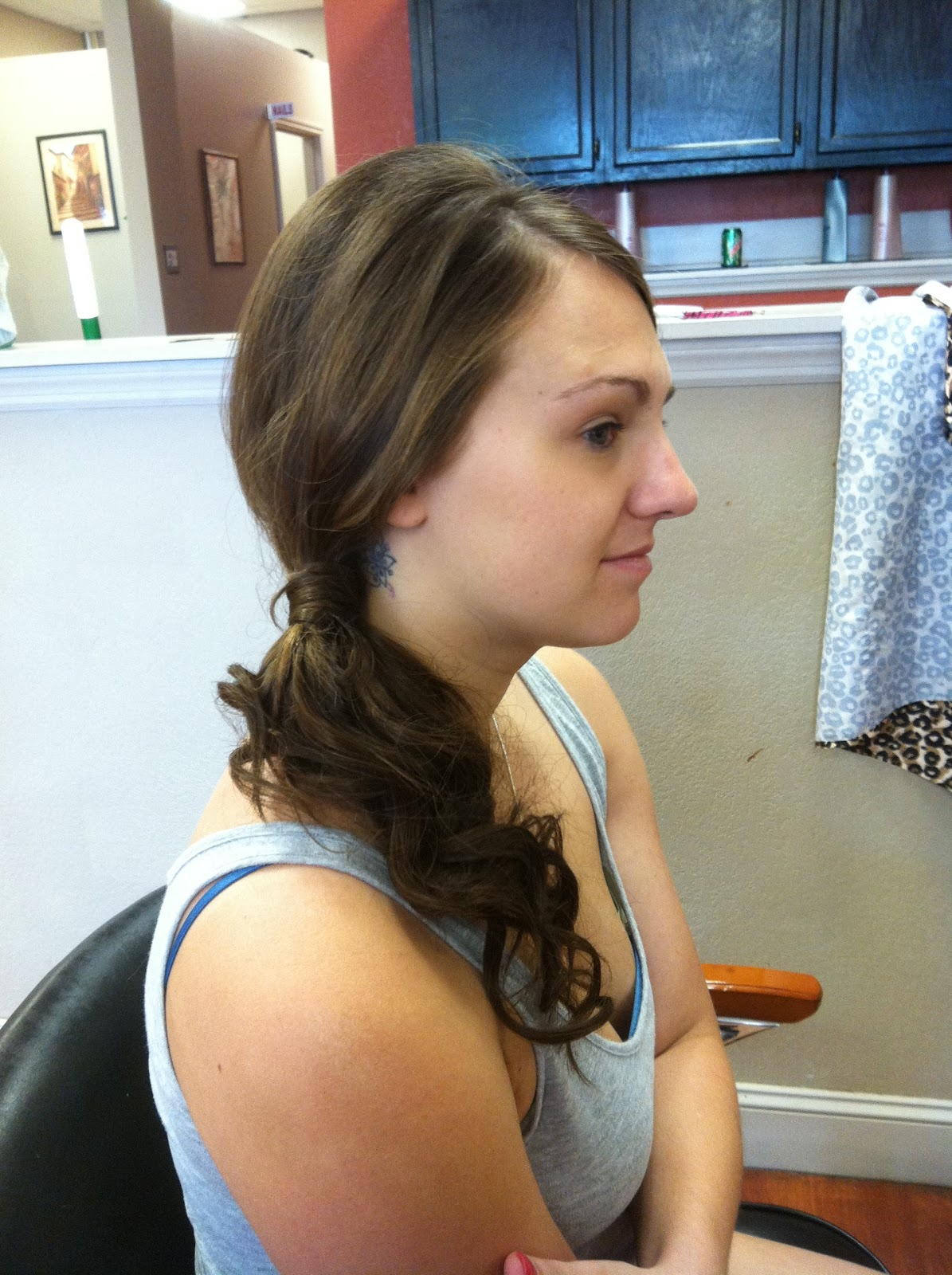 Bridesmaid updo + extensions