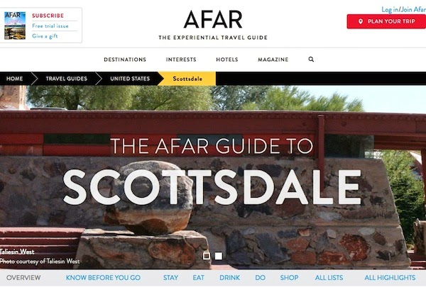 Scottsdale Travel Guide on Afar.com by Katarina Kovacevic