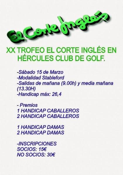 De golf la prueba del el corte ingl s se celebra este - Semana del electrodomestico el corte ingles ...