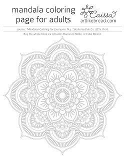 Art Like Bread Free Mandala Coloring Pages To Download