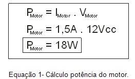 Equação de potência do Motor