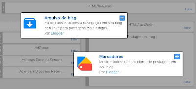 Gadget com Marcadores do Blog por Data