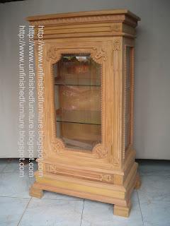 Klasik Furniture almari hias klasik mahoni unfinished mentah jepara supplier almari hias klasik unfinished mentah