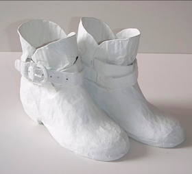 WHITE PAPER SHOES