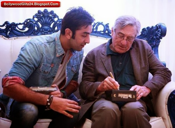 Ranbir Kapoor with Legendary Hollywood actor Robert de niro