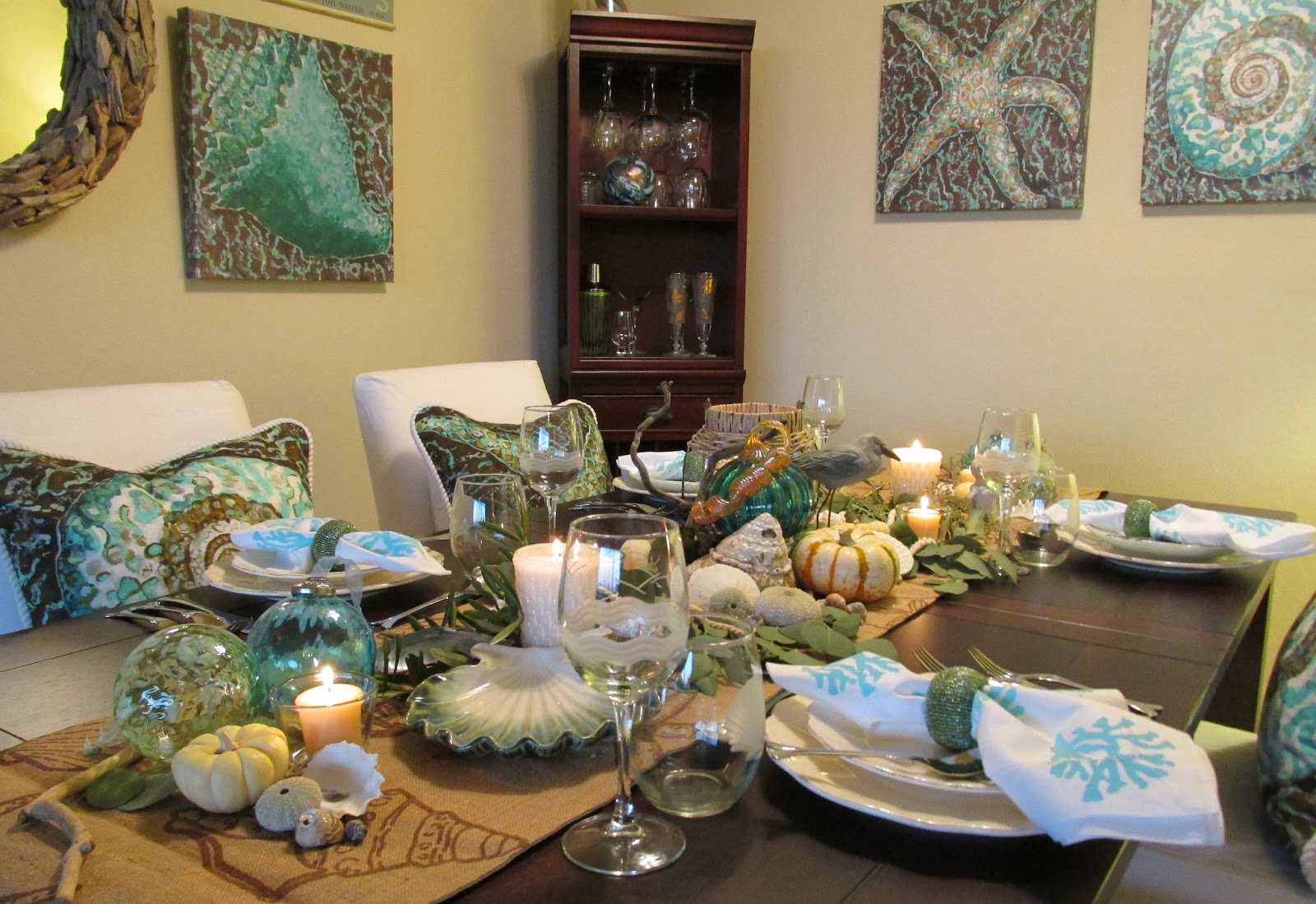 Everything Coastal.: Caron's Fall-Thanksgiving Dining Room