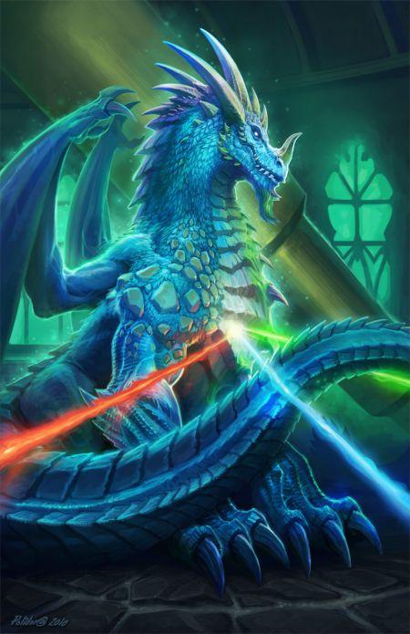 John Polidora ilustrações arte conceitual fantasia games blizzard dragão Netherspite