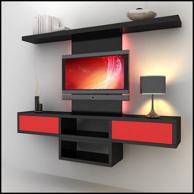 dekoratif+modern+duvar+unitesi Duvar Ünitesi Modellerinde Trendi Yakalayın