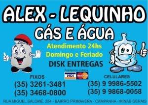 ALEX - LEQUINHO - GÁ E ÁGUA