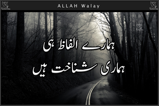 Our Words Are Our Recognization - Urdu Wise quotes, Design Quotes