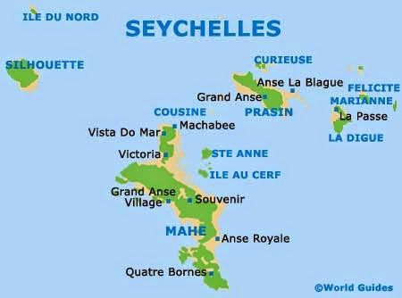 World Tourism The Most Beautiful Islands Of The Indian Ocean - Indian ocean seychelles map