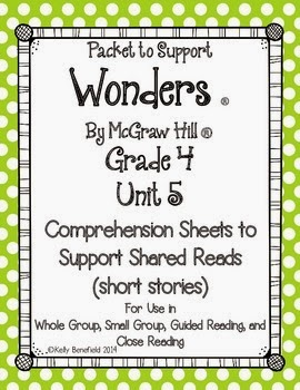 http://www.teacherspayteachers.com/Product/McGraw-Hill-Unit-5-Grade-4-Comprehension-Sheets-to-Support-Short-Reads-1111822