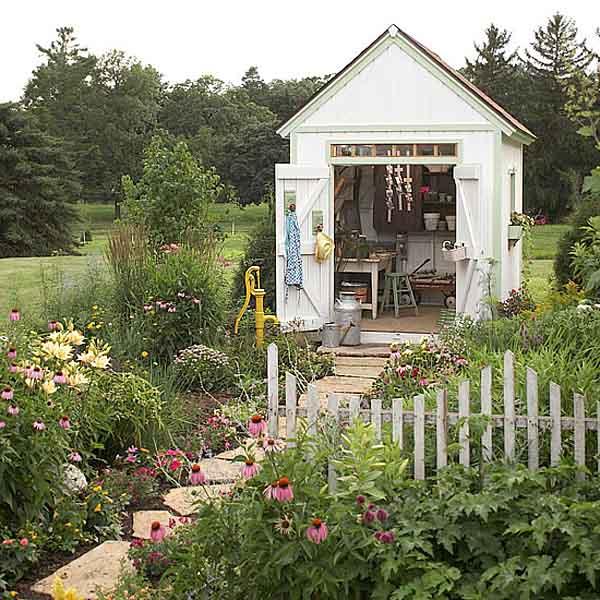Colocar una caba a en el jard n decorar tu casa es for Casetas para guardar herramientas de jardin
