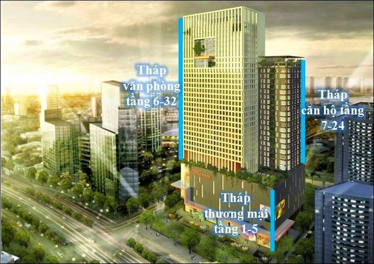 Thiết kế kiến trúc văn phòng căn hộ SSG Tower