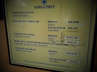 harga tiket di Taman Buaya Melaka