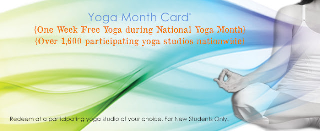 get a free week of yoga in september october 2013