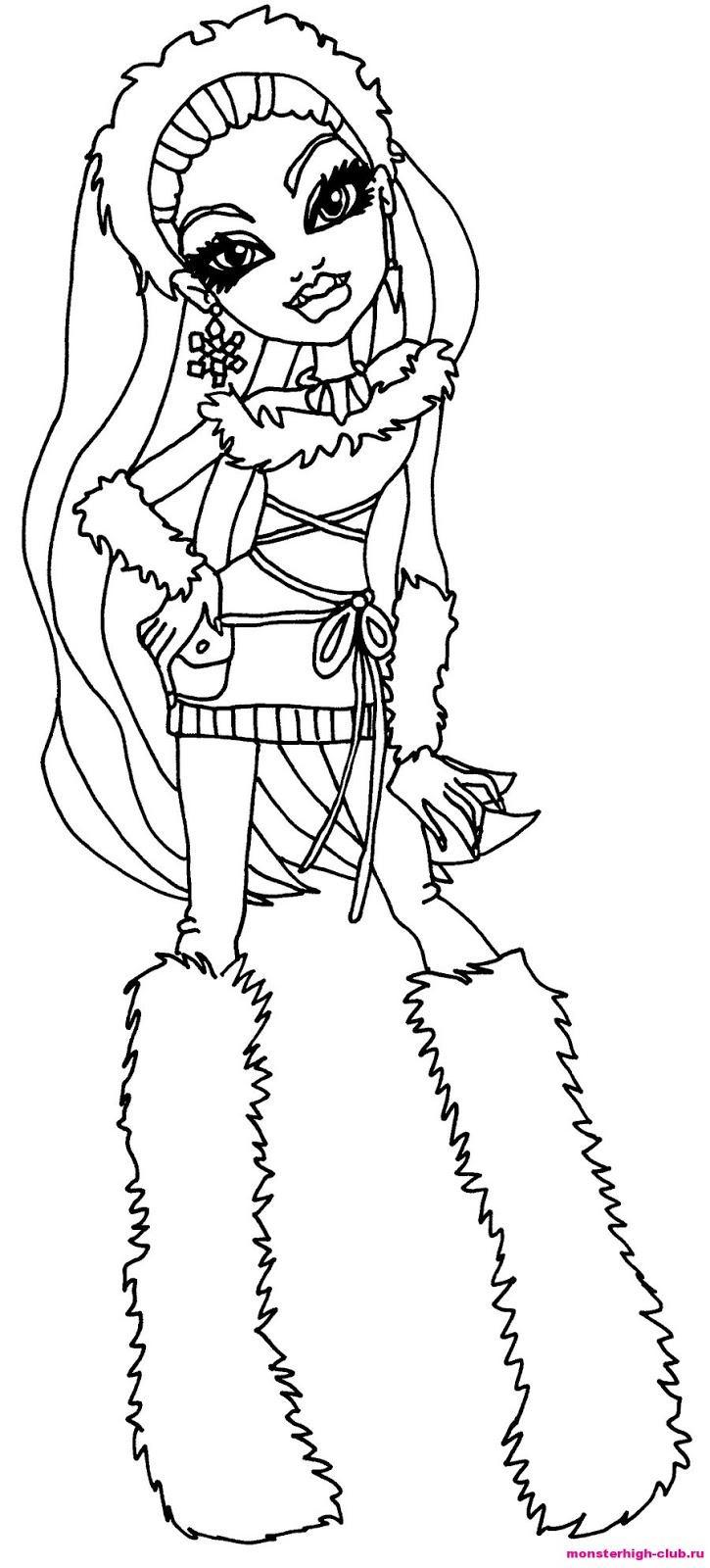 Monster High para colorir - Desenhos para Colorir pintar e
