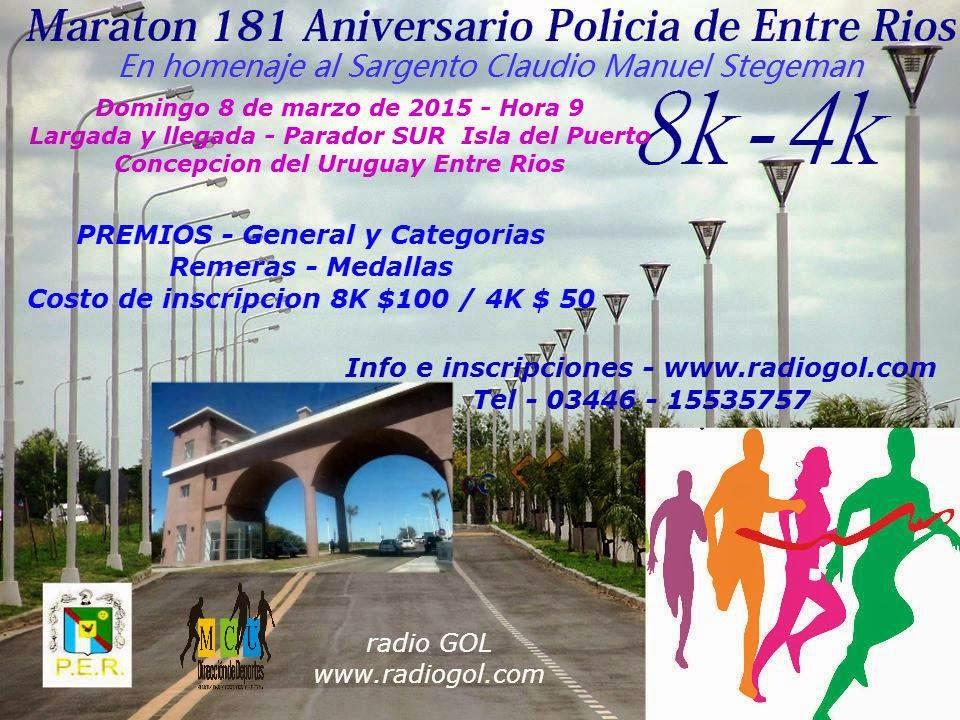 Maraton 181º aniv. Policia de Entre Rios