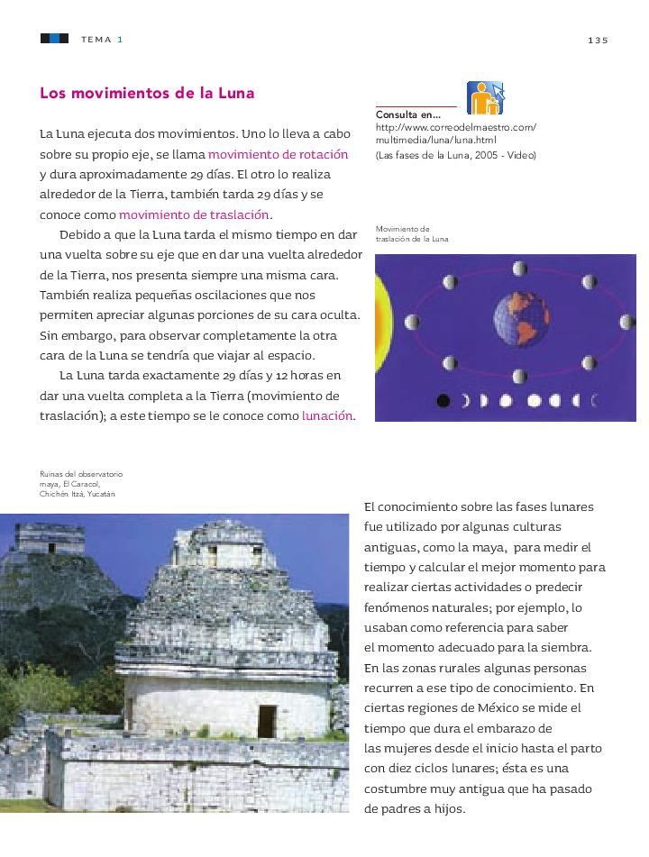 Las fases de la luna - Ciencias Naturales 3ro Bloque 5 ~ Apoyo ...