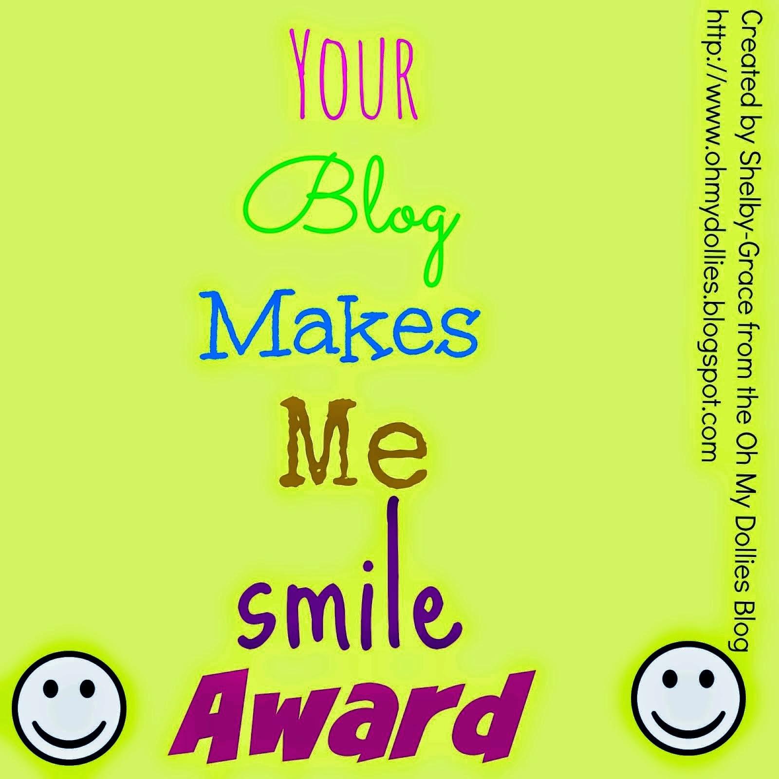 Your Blog Makes Me Smile Award