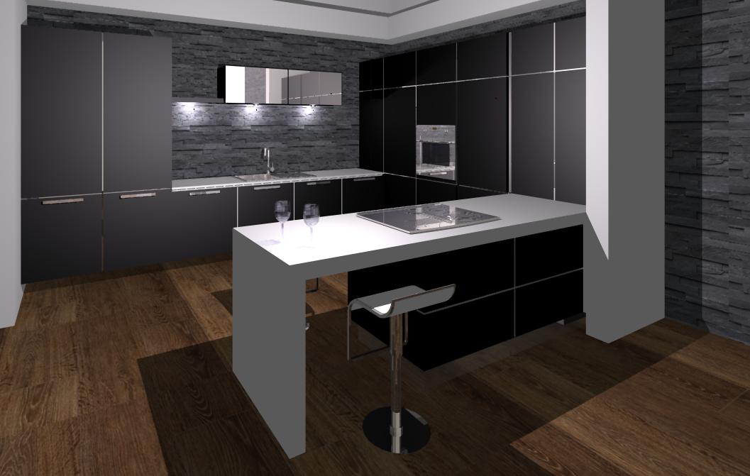 Keuken keukenvloer zwart - Zwarte houten keuken ...