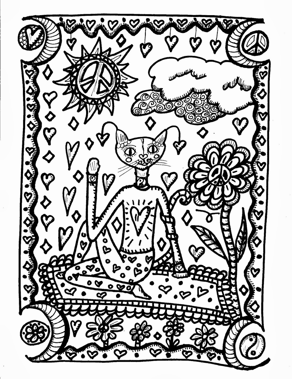Yoga Kitties, A New Coloring Book and A Zine oh my! | Dawn Collins Art