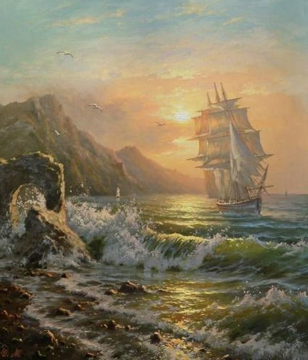 Im genes arte pinturas selecci n de oleos de marinas - Cuadros de atardeceres ...