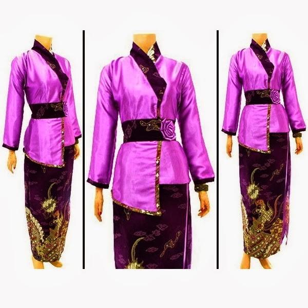 Desain Baju Batik Gamis Kombinasi keren 2015