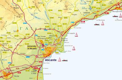 Alicante Mapa Ciudad de la Región