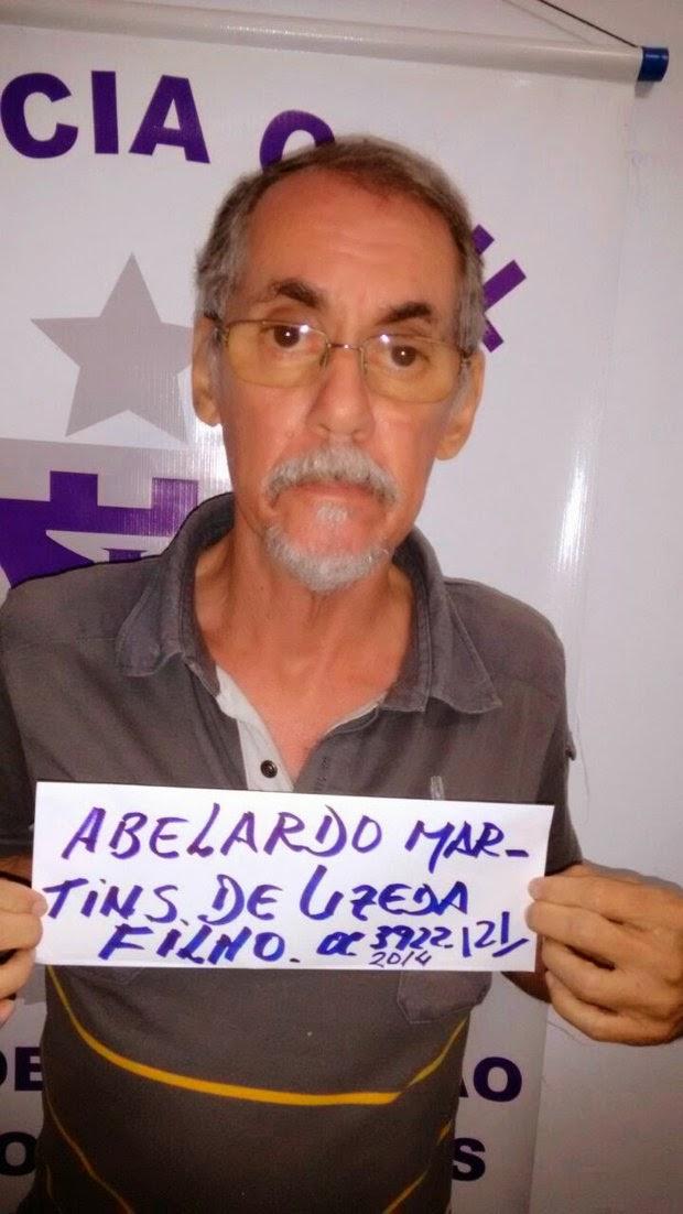 Abelardo foi preso pelo crime (Foto: RIUS)