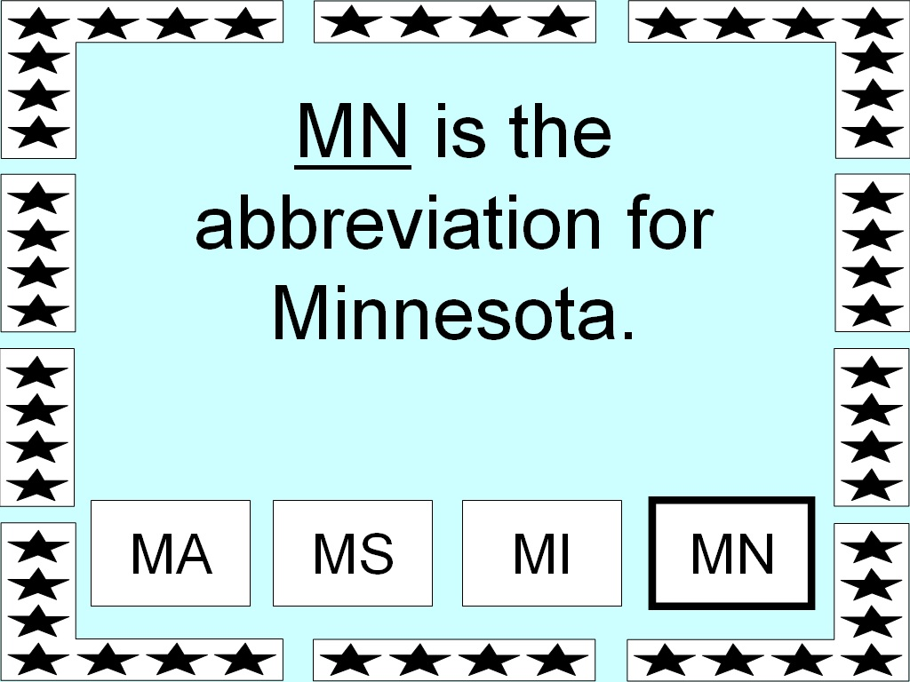 MN Is The Abbreviation For Minnesota