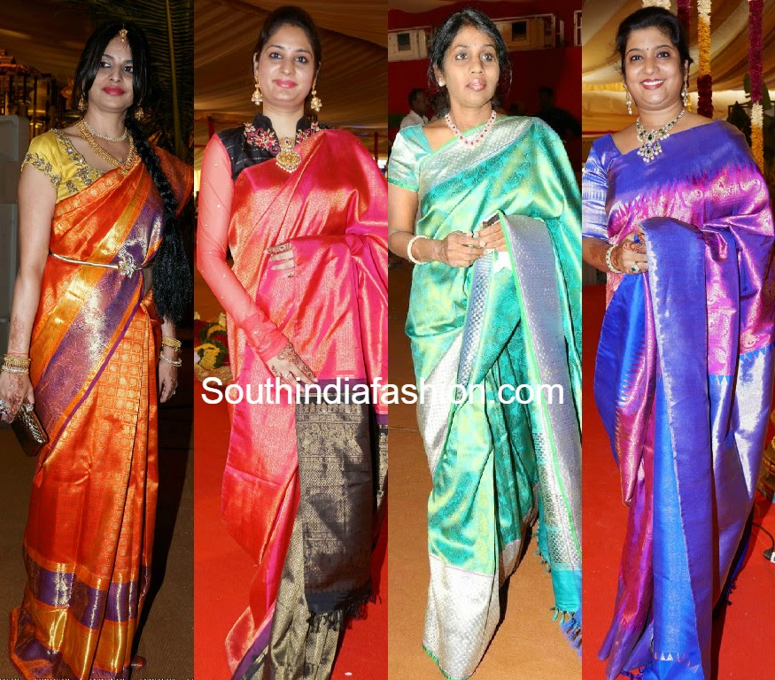 celebrities in kanjeevaram sarees
