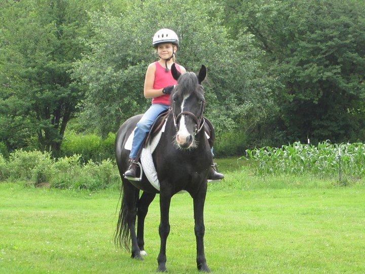 Aislinn and a slimmer Ebony July 2011