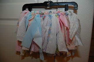 hanging scrap fabric tutu