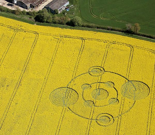 Crop Circle reportado en Wiltshire, Inglaterra el 12 de mayo de 2012