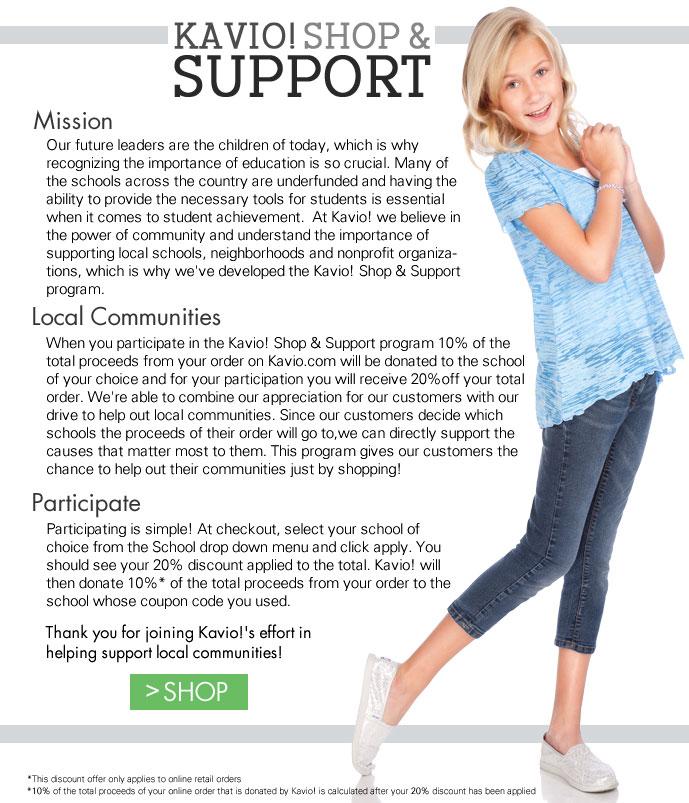 Kavio! Shop & Support