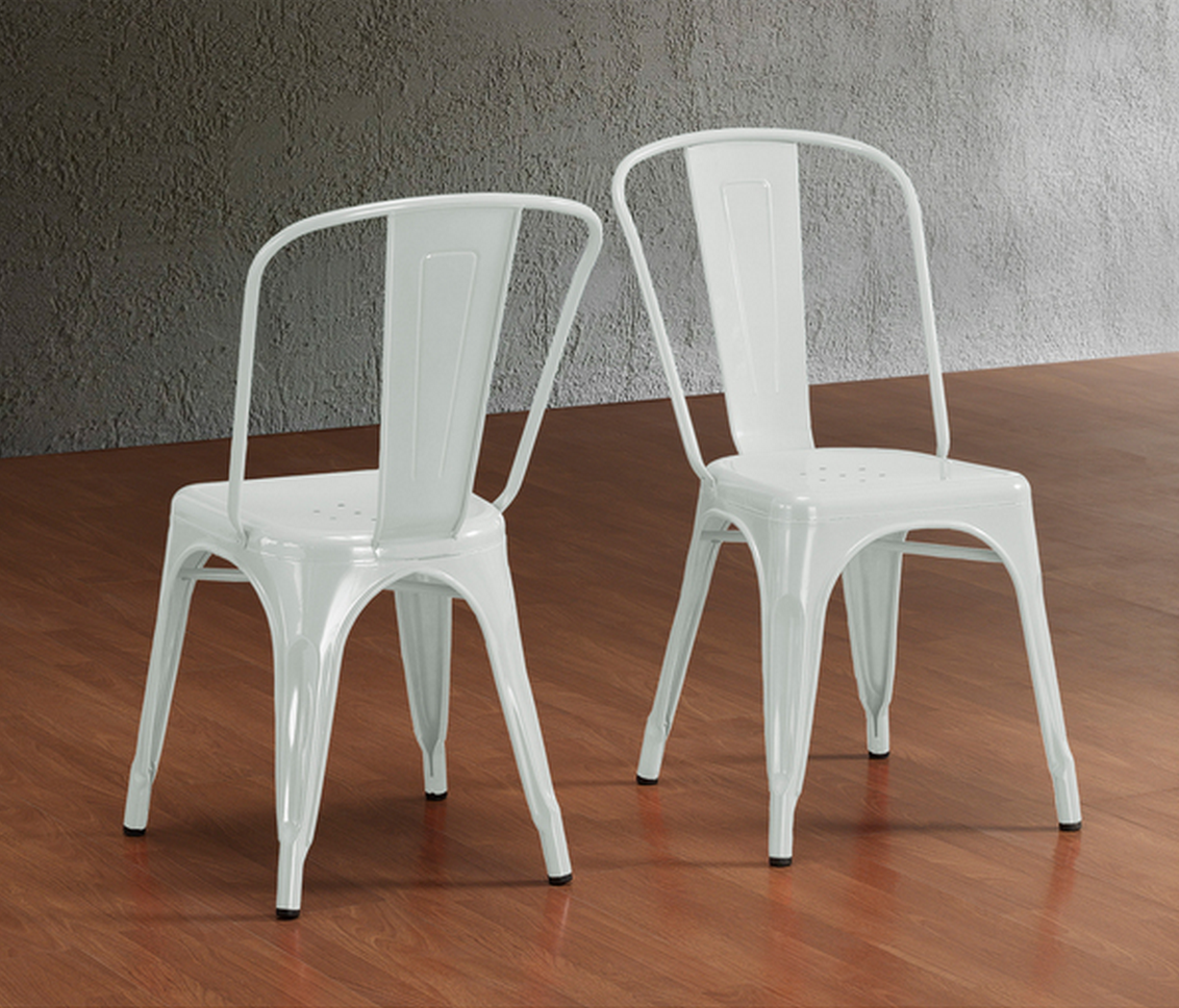 Overstock Tabouret Bistro Steel Side Chairs (Set of 2)