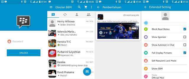 Download MOD BBM Official Based BBM Version  Download MOD BBM Official Based BBM V2.11.0.16