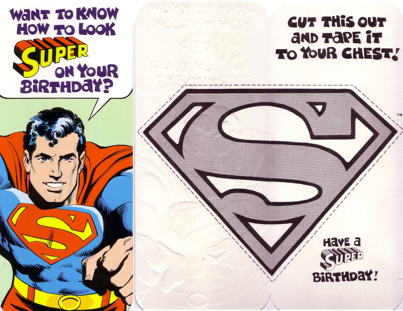 My Comic Board Banners And More Superman And Dc Greeting Cards 3